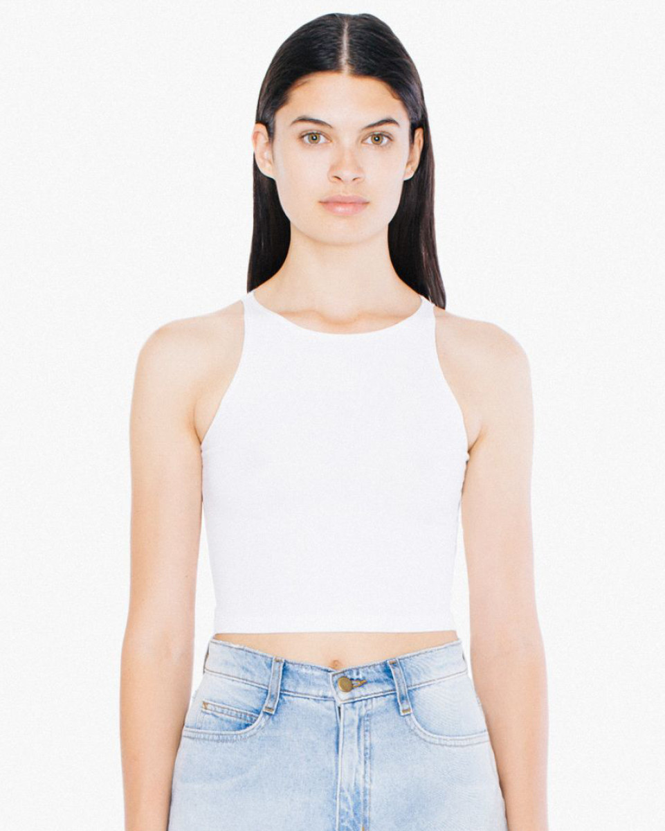 American Apparel Spandex S/Less Crop Top