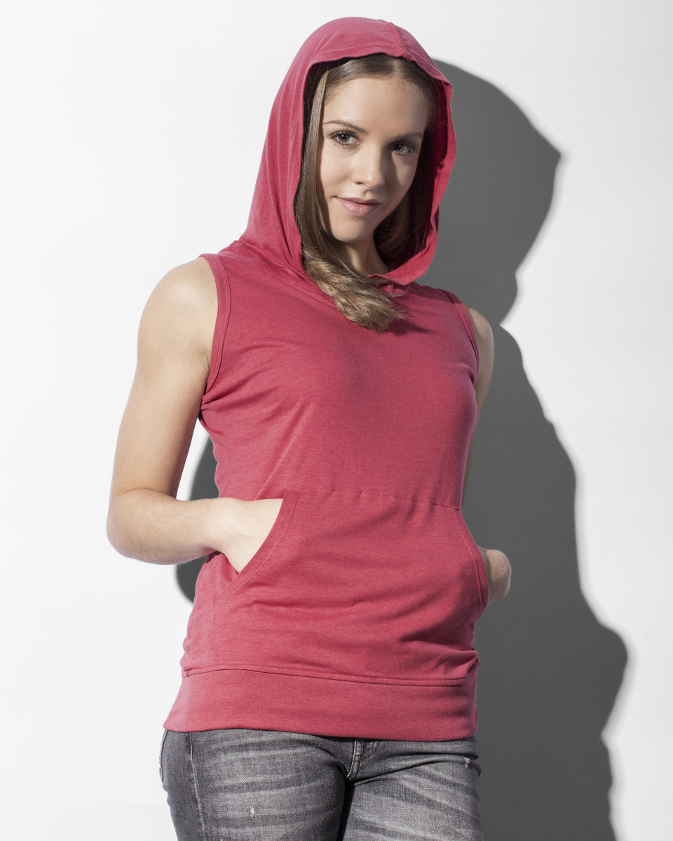 Nakedshirt Cecilia Sleeveless Hooded Tee