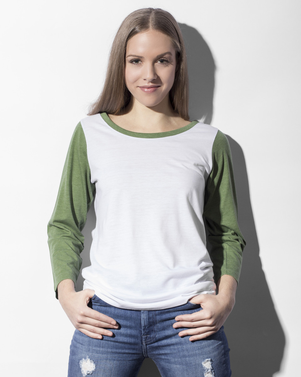 Nakedshirt Jessica Womens Baseball Tee