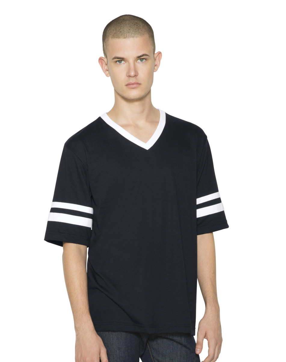 American Apparel Unisex Vneck Football T